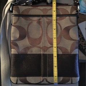 Coach crossbody cross body bag khaki dark brown